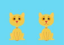 kreskówki kota ilustraci wektoru kolor żółty Fotografia Stock