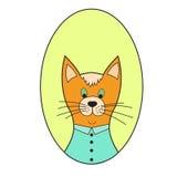 kreskówki kota ilustraci wektoru kolor żółty Zdjęcie Stock