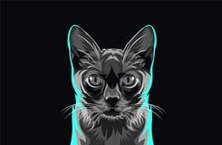 (1) kreskówki kota ilustracyjny serii wektor Obraz Stock