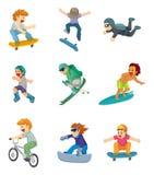 kreskówki krańcowy ikony sport Zdjęcia Royalty Free
