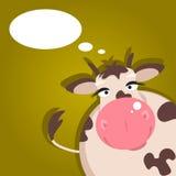 Kreskówki krowa również zwrócić corel ilustracji wektora Obrazy Royalty Free