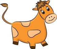 Kreskówki krowa wektor Fotografia Stock