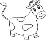 Kreskówki krowa wektor Zdjęcia Royalty Free