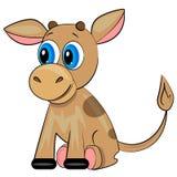 Kreskówki krowa. zwierzęcy dziecko ilustracja wektor