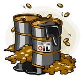 kreskówki kryzysu oleju serie Obraz Stock