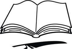 kreskówki książkowy piórko Fotografia Royalty Free