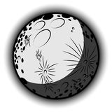 Kreskówki księżyc tło Obraz Royalty Free