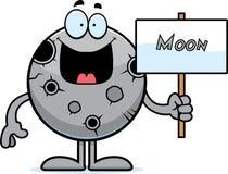 Kreskówki księżyc znak royalty ilustracja