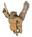 kreskówki latająca świnia Obraz Royalty Free