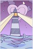 Kreskówki latarnia morska Obraz Royalty Free