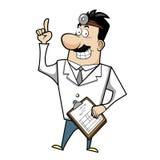 Kreskówki lekarka z schowkiem royalty ilustracja