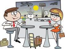 kreskówki lotniskowa podróż Zdjęcie Royalty Free