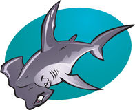 kreskówki młoteczkowej głowy rekin Zdjęcia Stock