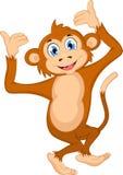 Kreskówki małpa dla ciebie projektuje Fotografia Royalty Free