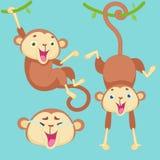 Kreskówki małpa z emocjami Fotografia Royalty Free