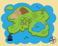 kreskówki mapy skarb Zdjęcia Royalty Free