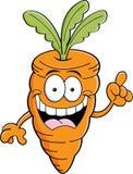 Kreskówki marchewka z pomysłem Obrazy Stock