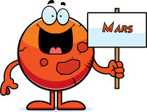 Kreskówki Mars znak royalty ilustracja