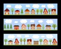 Kreskówki miasteczko ilustracji