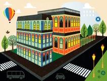 Kreskówki miasteczko Obraz Stock