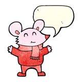 kreskówki mysz z mowa bąblem Obraz Royalty Free