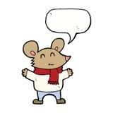 kreskówki mysz z mowa bąblem Zdjęcie Stock