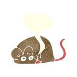 kreskówki mysz z mowa bąblem Zdjęcia Royalty Free