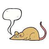kreskówki mysz z mowa bąblem Obrazy Stock