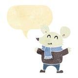 kreskówki mysz z mowa bąblem Fotografia Stock