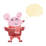 kreskówki mysz z myśl bąblem Obrazy Stock