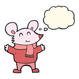kreskówki mysz z myśl bąblem Obraz Stock