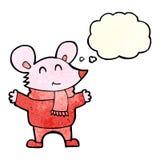 kreskówki mysz z myśl bąblem Fotografia Royalty Free