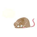 kreskówki mysz z myśl bąblem Zdjęcia Royalty Free