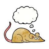 kreskówki mysz z myśl bąblem Zdjęcie Stock