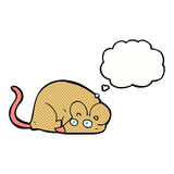 kreskówki mysz z myśl bąblem Obraz Royalty Free