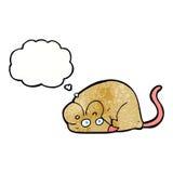 kreskówki mysz z myśl bąblem Fotografia Stock
