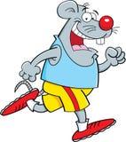 Kreskówki myszy bieg ilustracja wektor