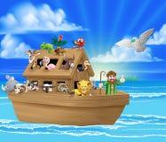 Kreskówki Noahs arka royalty ilustracja