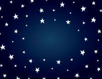 Kreskówki nocy gwiazdy tło Zdjęcia Royalty Free