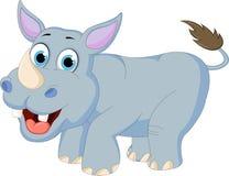 Kreskówki nosorożec dla ciebie projektuje Fotografia Royalty Free