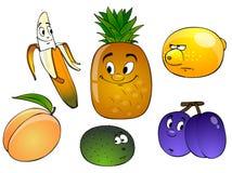 kreskówki owoców występować samodzielnie Obrazy Royalty Free
