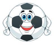 Kreskówki piłki nożnej piłka Obraz Royalty Free
