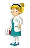 Kreskówki pielęgniarka - odosobniona Obraz Stock
