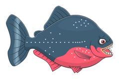 Kreskówki Piranha Obrazy Royalty Free