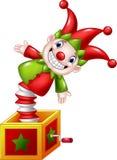 Kreskówki Pocieszny zabawkarski doskakiwanie out od pudełka ilustracji