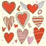 kreskówki projekta serca ustawiający Zdjęcie Stock
