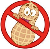 Kreskówki przerwy arachidów znak Zdjęcia Royalty Free