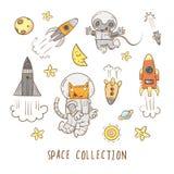 Kreskówki przestrzeni set Fotografia Stock