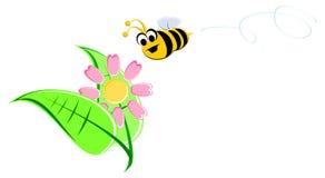 Kreskówki pszczoła Obrazy Royalty Free