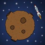 Asteroida i rakieta Zdjęcia Royalty Free
